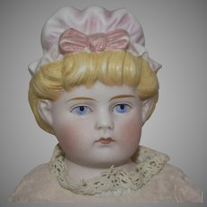 Antique Parian German ABG Doll with Molded Bonnet