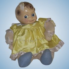 Large, Puffy, and Cuddly Composition Head Kewpie Doll