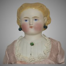 Simon & Halbig German Bisque Parian Doll with Decorated Hairstyle and Shoulder Plate