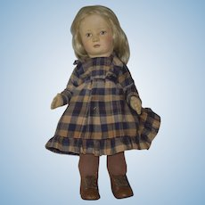 "R. John Wright Little Children Series 1 Felt Doll ""Hannah"""