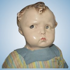 "Effanbee Deco Antique Composition ""Baby Grumpy"" Doll"