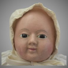 Early Papier Mache Motschmann Doll with Floating Joints