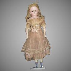Beautiful All Original German Wax over Papier Mache Doll