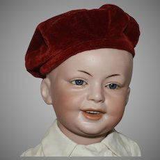 Antique French Bisque Socket Head Character Boy Doll by S.F.B.J.