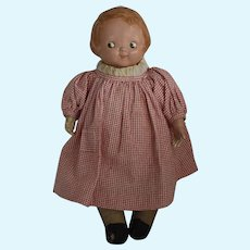 "Early ""Campbell Kid"" Composition and Cloth Doll by Horsman"