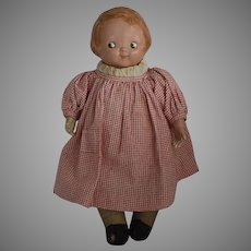 """Early """"Campbell Kid"""" Composition and Cloth Doll by Horsman"""