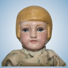 Antique Martha Chase Cloth Doll with Bobbed Hair