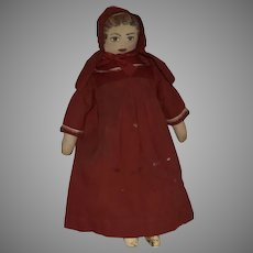 Early Cloth Doll with Hand Painted Head