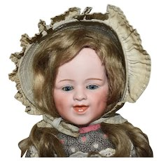Gebruder Heubach Bisque Head Character Doll with Grinning Expression