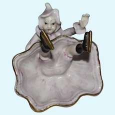 Glazed Porcelain China Fallen Skater Naughty Nudie Figurine Made in Japan