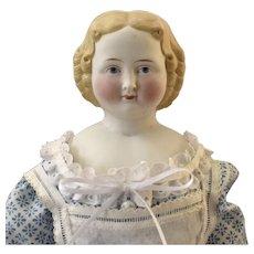 Blonde Kister German Parian Shoulder Head Doll