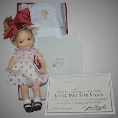 """UFDC 2019 Souvenir R. John Wright """"Little Miss Star Struck"""" All Original Felt Doll"""