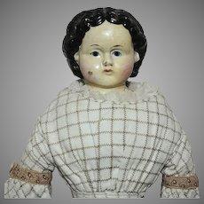 Small 1858 Greiner Papier Mache Doll