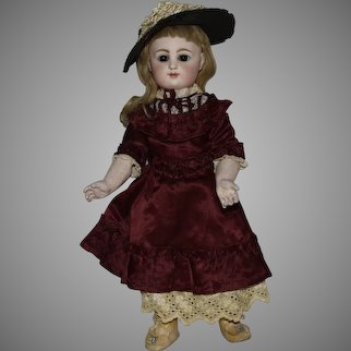 French Bisque Rabery & Delphieu Socket Head Doll on Original Composition Straight Wrist Body