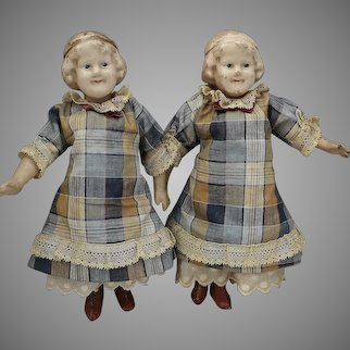 Composition Coquette Character Doll Twins