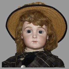 Exquisite Jumeau Bisque Head Triste Carrier-Belleuse Model Doll