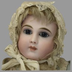 Antique Beautiful French Bisque Long Face Doll by Schmitt & Fils