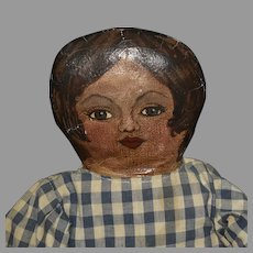 Vintage Cloth Superior Mattress Doll with Oil Painted Head