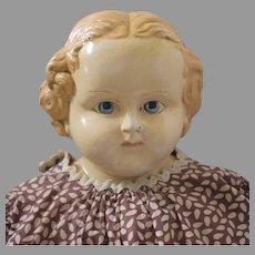 Rare India Rubber Comb Company Shoulder Head Doll