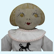Sweet and Petite Vintage Cloth Doll