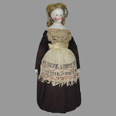 Kestner Biedermeier German China Head Doll