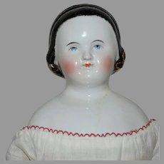 """""""Alice in Wonderland"""" German China Head Doll by Kestner"""