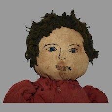 "Antique Handmade Cloth ""Stump"" Doll"