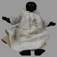 Old Black Cloth OOAK Hand Made Character Doll