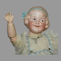 "Gebruder Heubach Antique Bisque Head Character Doll ""Coquette"""