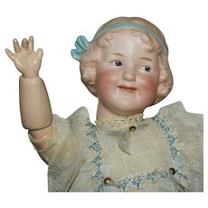 """Gebruder Heubach Antique Bisque Head Character Doll """"Coquette"""""""