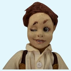 All Original Lenci Felt/Cloth Winking Character Doll