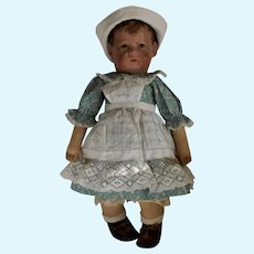 German Early Kathe Kruse Wide Hip Cloth Doll Number One