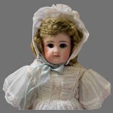 Fine Quality Early Closed Mouth German Bisque Shoulder Head Doll