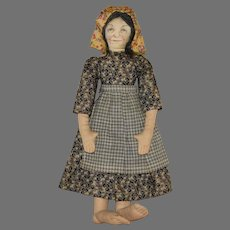 """""""Aunt Emma"""" Cloth Pioneer Woman with Big Feet"""