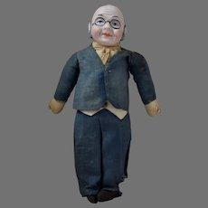 """""""Foxy Grandpa"""" Comic Bisque Head Doll"""