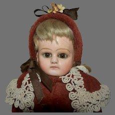 Antique German Papier Mache Doll AKA Patent Washable or German Composition