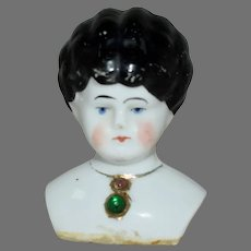Antique German China Shoulder Head with Jewel Decoration