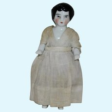 Antique China Frozen Charlotte Bathing Doll with White Costume
