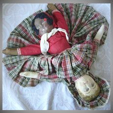 Bruckner Topsy Turvy Mask Face Cloth Doll