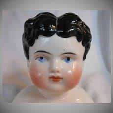 German Alt, Beck & Gottschalck Glazed Porcelain China Head