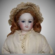 French Fashion Poupee Peau Bisque Head Doll