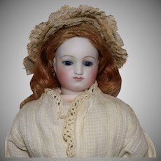 French Fashion Poupee Peau Bisque Head Doll