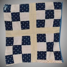 Antique Nine Patch Doll Quilt