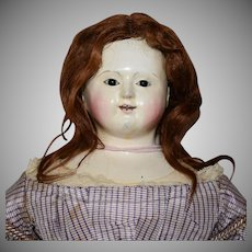 French Type Papier Mache Head Doll by Voit