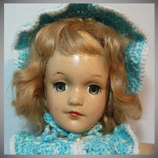 Mary Hoyer Composition Doll with Crocheted Outfit