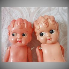 Betty Boop Style Googly Eye Celluloid Doll Pair