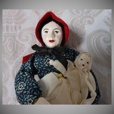 Vintage Pioneer Lady with Baby