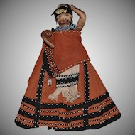 Union of South Africa Ethnic Cloth Doll with Baby