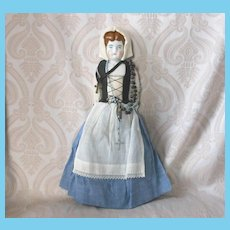 All Original German China Doll by Hertwig in Ethnic Costume