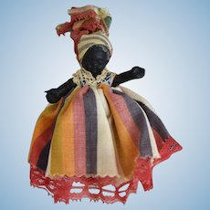 All Original Hard Plastic Black Souvenir Doll from Martinque